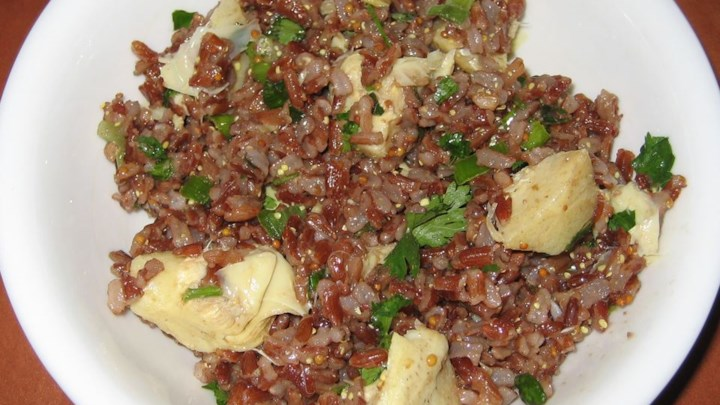 Rice Salad with Prosciutto and Artichokes
