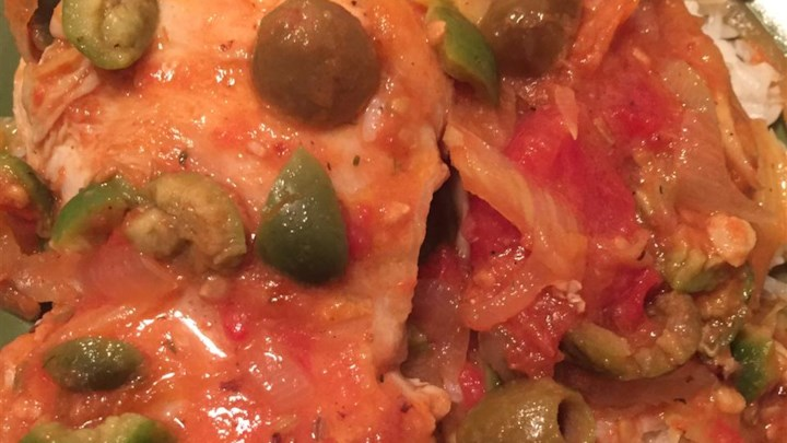 Oven-Braised Chicken Thighs with Fennel and Castelvetrano Olives