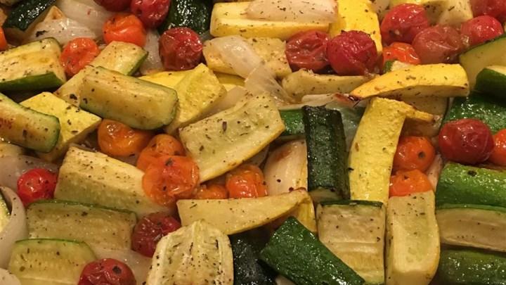 Garlic Roasted Summer Squash