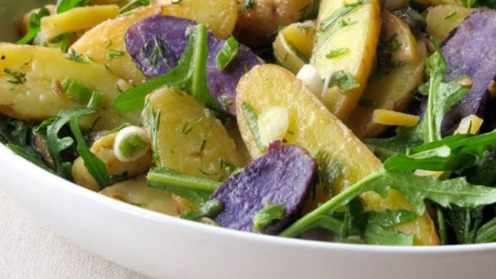 Potato Salad with Quick Preserved Lemon and Arugula