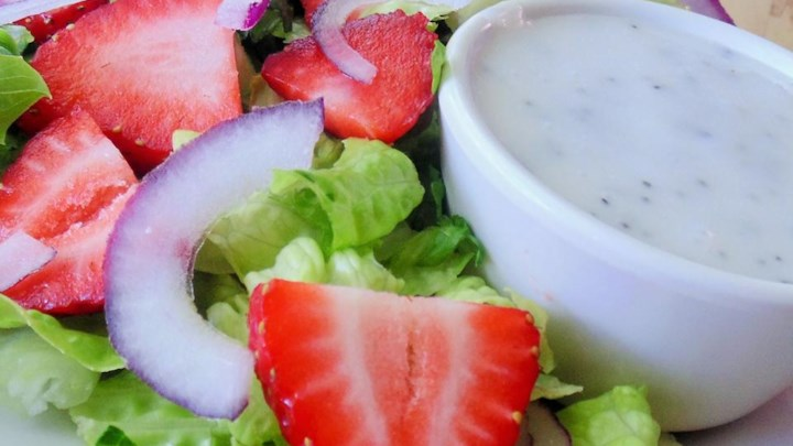 Chelsey's Strawberry Salad with Poppy Seed Dressing