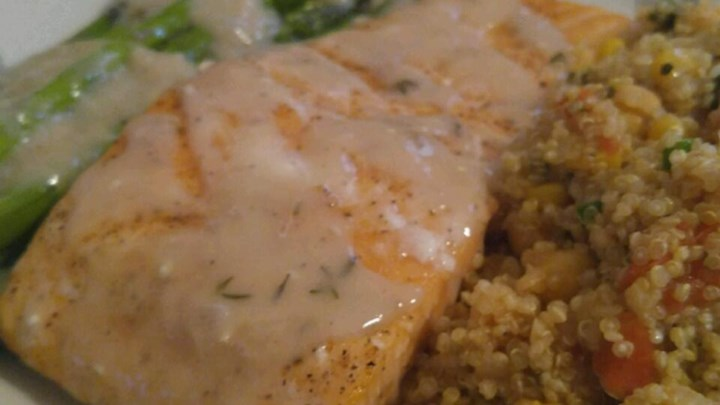 Roasted Salmon with White Wine Sauce Recipe - Allrecipes.com