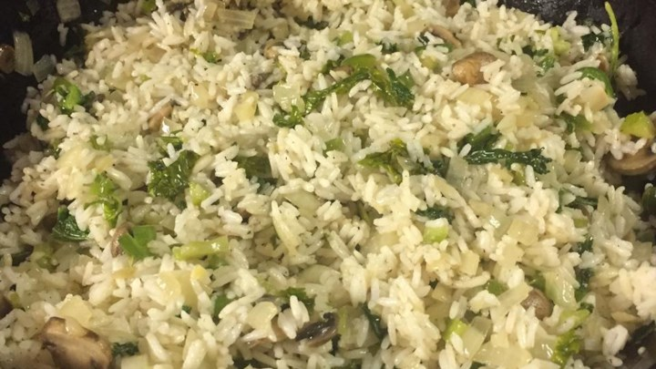 Sauteed Rice with Kale