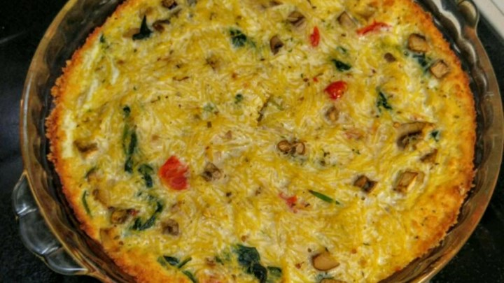 Spaghetti squash 39 quiche 39 review by susan mcdonald for Quiche not setting