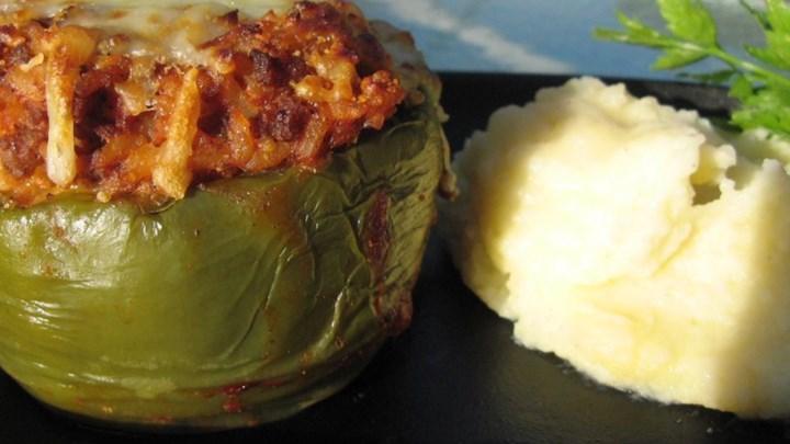 Kelsey's Favorite Stuffed Green Peppers