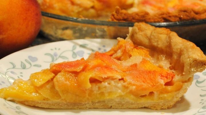 Peach Custard Pie I