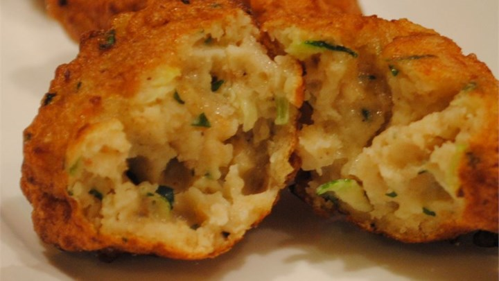 Zucchini and Razor Clam Fritters