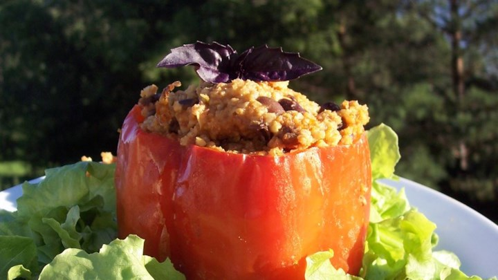 Millet-Stuffed Peppers