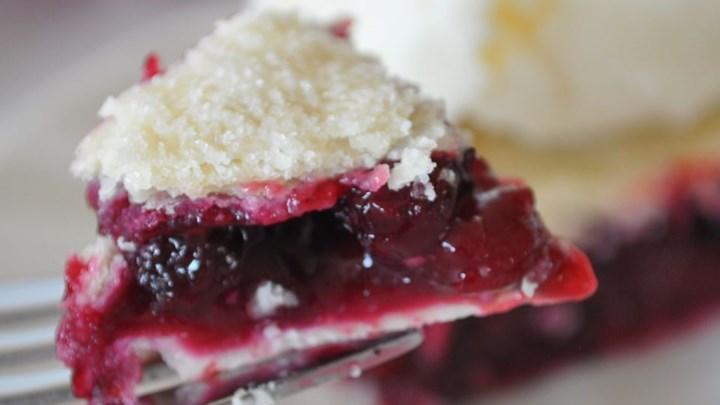 Saskatoon (Serviceberry) Rhubarb Pie