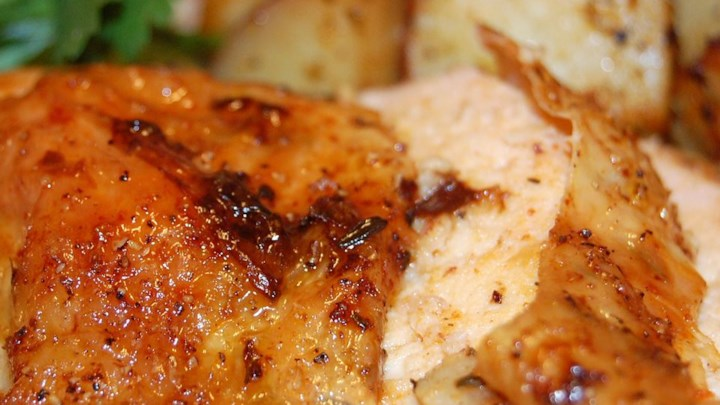 Roast Sticky Chicken-Rotisserie Style Recipe - Allrecipes.com