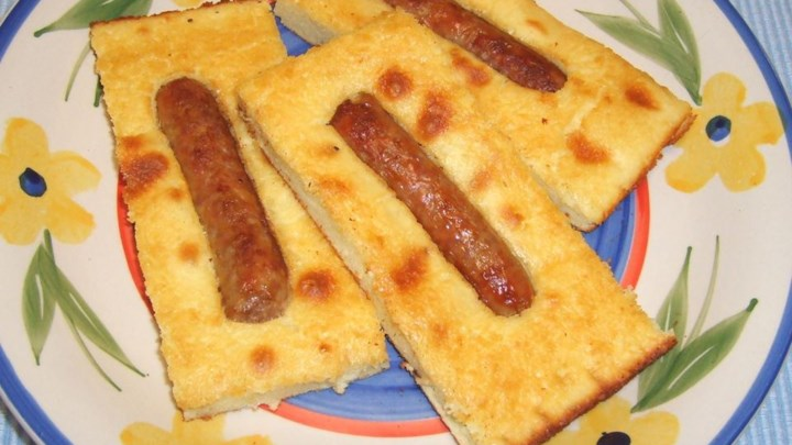 Baked Pancakes with Sausages