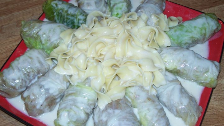 Ukrainian Meat Filled Cabbage Rolls