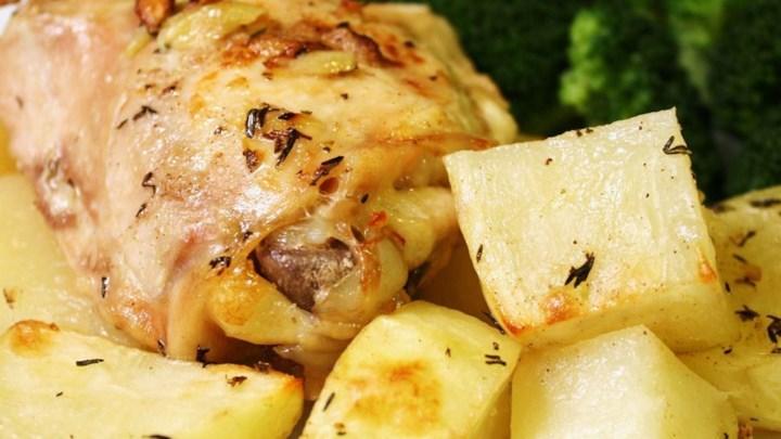 Lebanese Chicken and Potatoes
