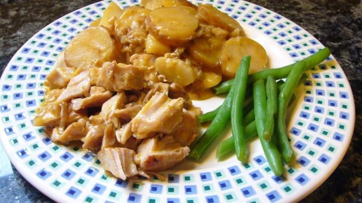 Pork Chops and Cheesy Scalloped Potatoes