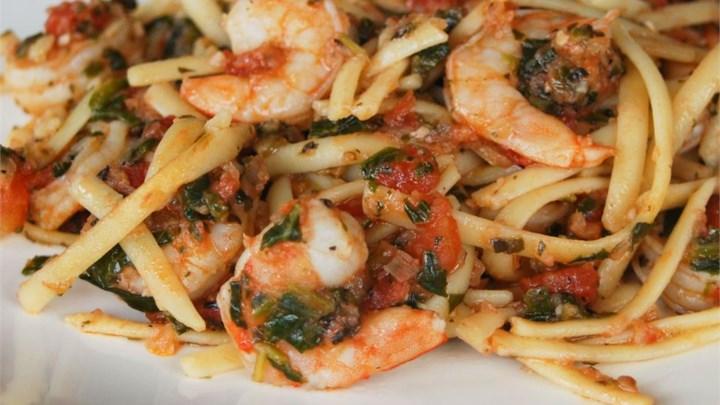 Fresh Tomato Shrimp Pasta