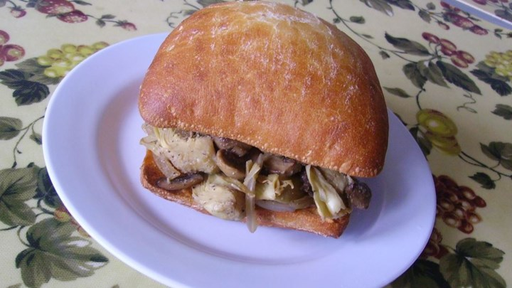 Mushroom Artichoke Sandwich