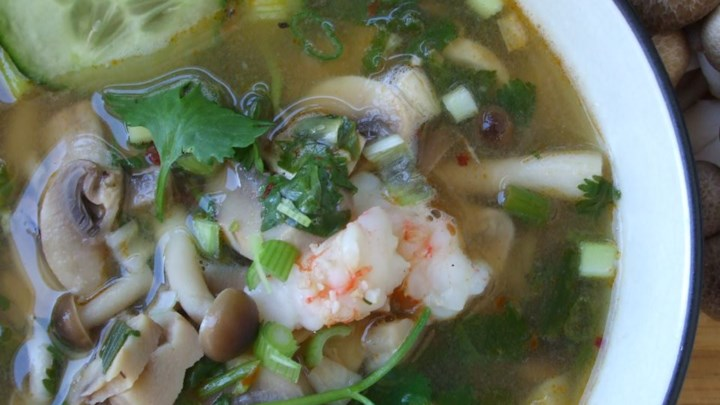 Super Hot and Sour Shrimp Soup