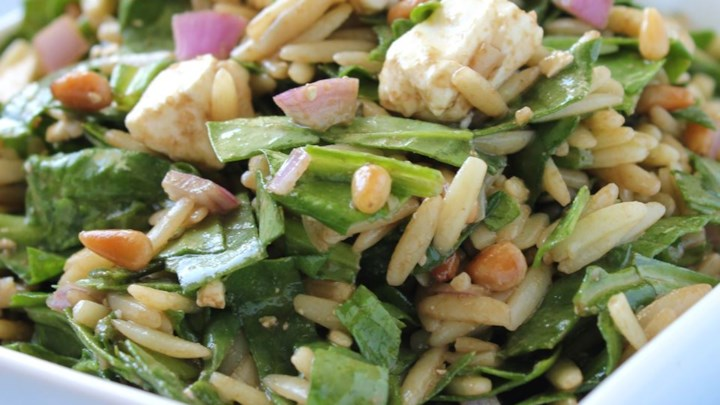 Spinach and Orzo Salad