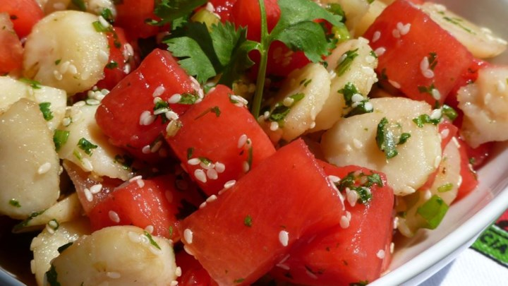 Watermelon and Sesame Seed Salad