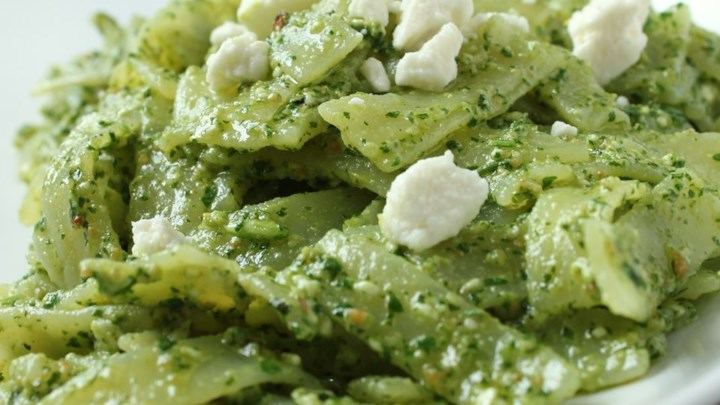 Tagliatelle with Coriander Pesto