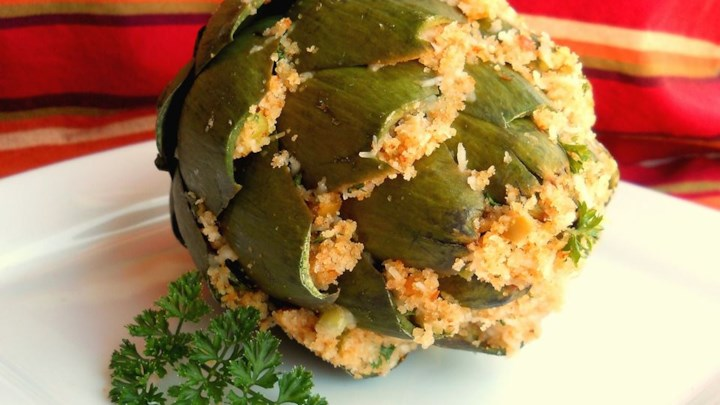 New Orleans Stuffed Artichokes