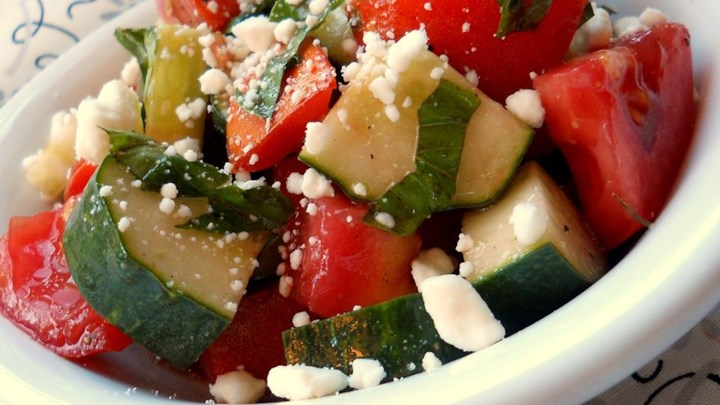 Tomato, Basil, and Feta Salad