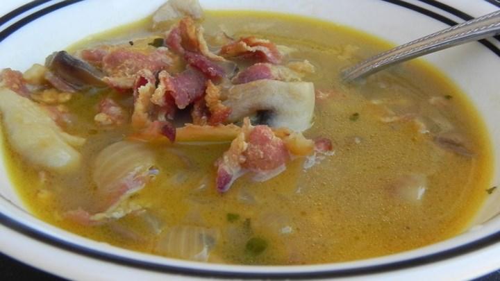 Shiitake Mushroom and Cheddar Soup