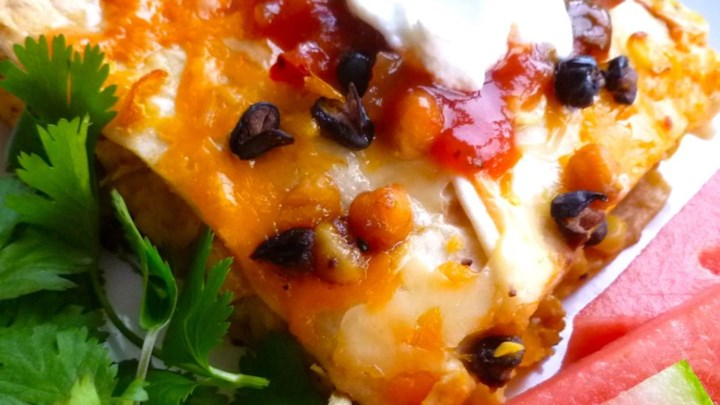 Bean and Honey Burrito Casserole
