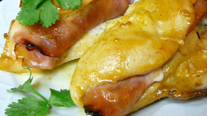 Honey Mustard Stuffed Chicken Breasts