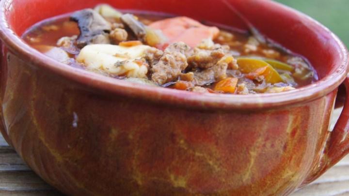 Hearty Pasta Tomato Soup