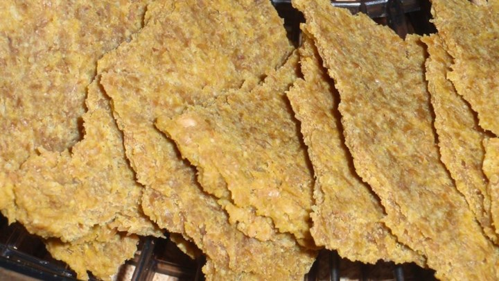 Cheezy Flax Crackers