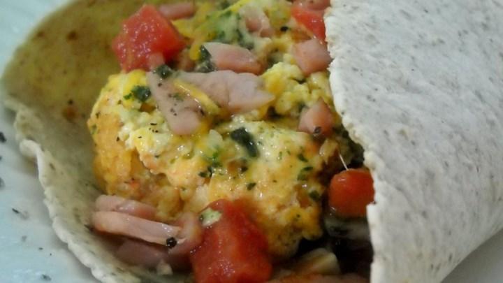 Egg Pesto Breakfast Wrap