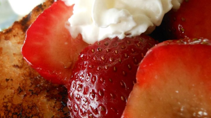 Strawberry Shortcake with Balsamic
