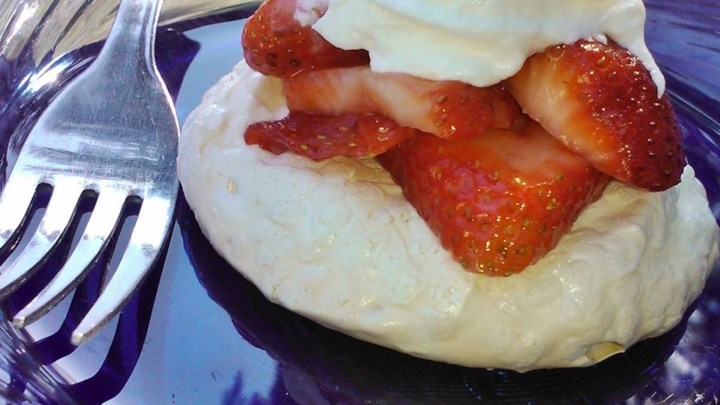 Chef John's Pavlova with Strawberries