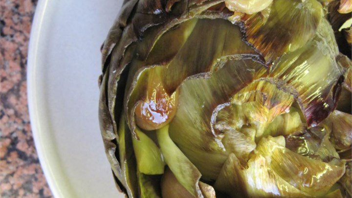 Simply Roasted Artichokes
