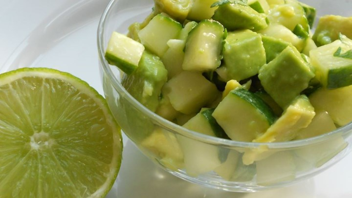 Tangy Cucumber and Avocado Salad