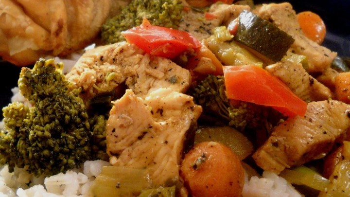 Orange-Chicken Rice Bowl