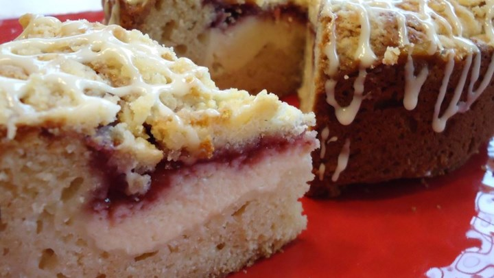 Raspberry Cream Cheese Coffee Cake Recipe - Allrecipes.com