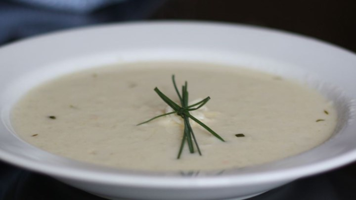 Creamy Cauliflower and Asiago Soup