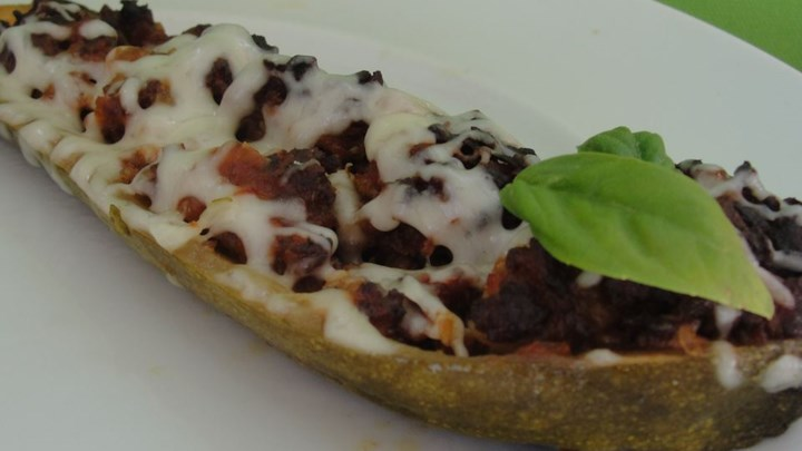 Slow Cooker Stuffed Zucchini