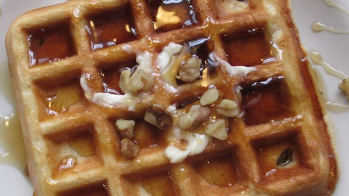 Crispy Walnut Maple Waffles Recipe - Allrecipes.com