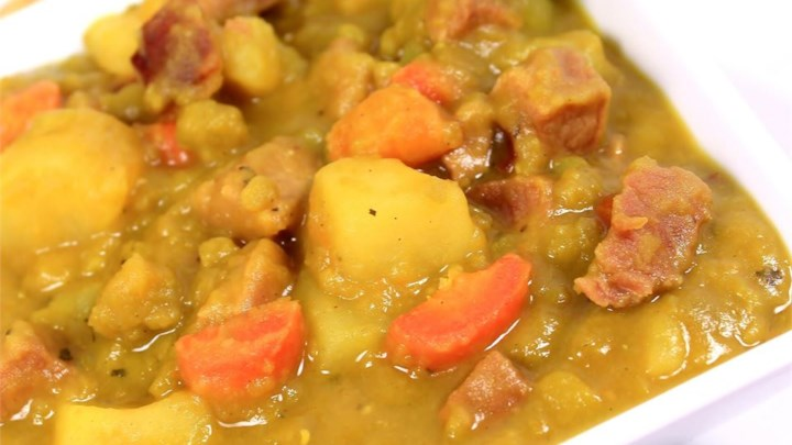 Wintertime French Style Split Pea Soup