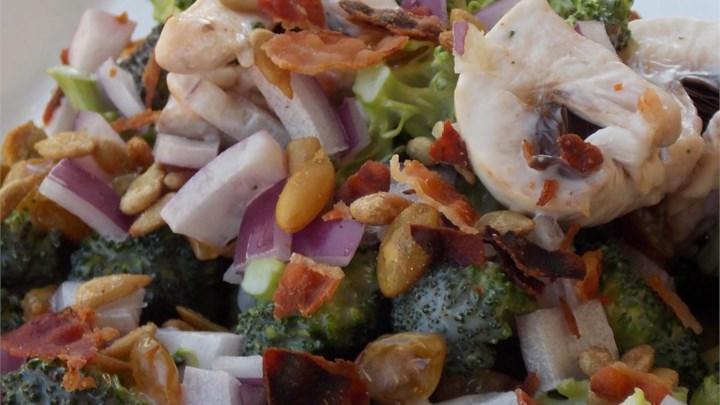 Mushroom Broccoli Salad