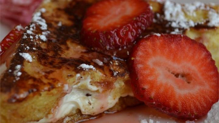 Strawberry Cheesecake French Toast Recipe - Allrecipes.com