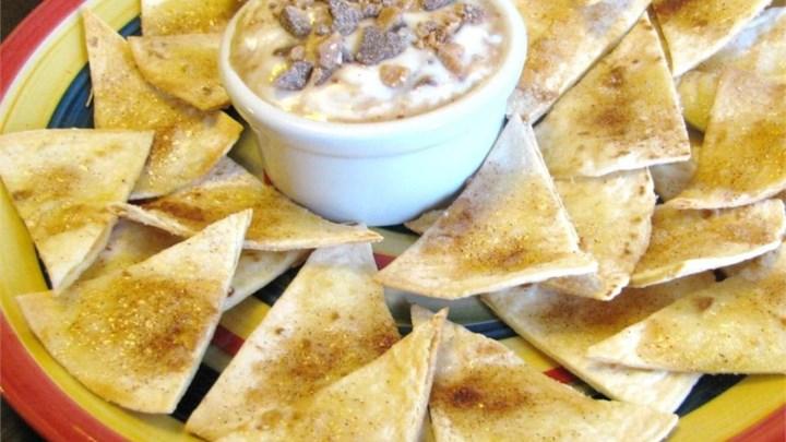 Tortilla Crisps with Brickle Dip