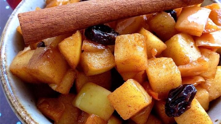 Bourbon Fried Apples