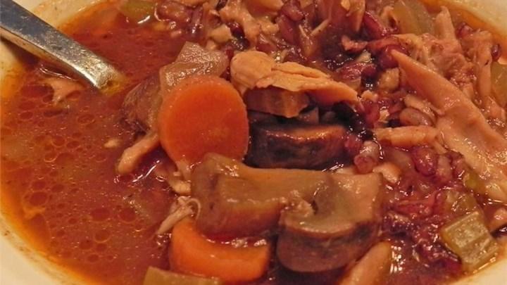 Low 'N Slow Mushroom Barley Soup