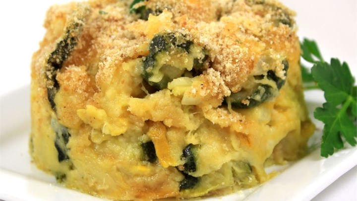 Cheesy Squash and Zucchini Casserole