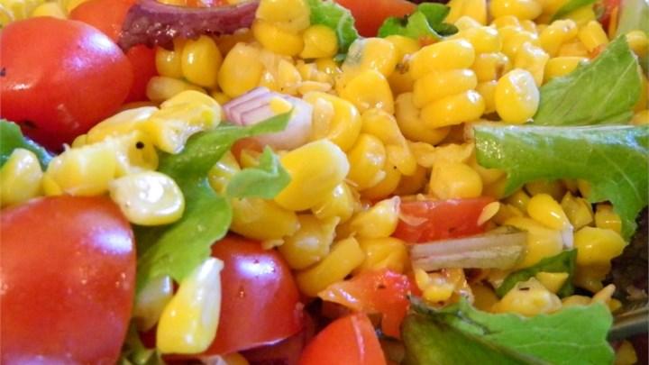 Roasted Corn and Heirloom Tomato Salad