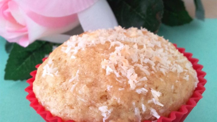 Coconut Mango Muffins with Candied Ginger